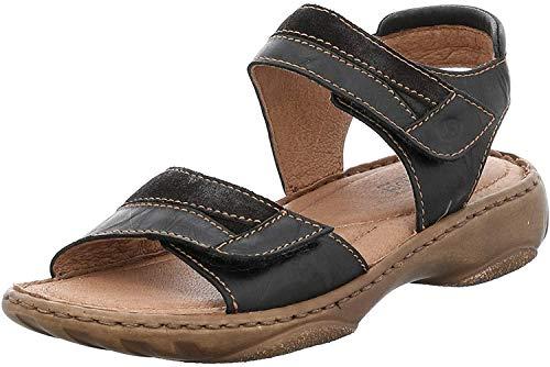 Josef Seibel Debra 19 Sandalen in Übergrößen Schwarz 76719 88 102 große Damenschuhe, Größe:42