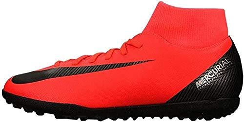 Nike JR Superfly 6 Club CR7 TF, Zapatillas de fútbol Sala Unisex niño, Multicolor (Bright Crimson/Black/Chrome 600), 38 EU