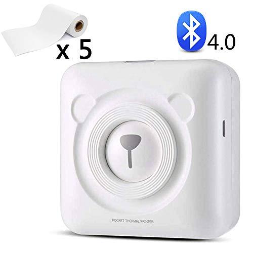 EJOYDUTY 58mm Bluetooth 4.0 mini-fotoprinter, onmiddellijke thermobonprinter met printpapier, voor Android iOS mobiele telefoon, cadeau, voor kinderen, vriend, student