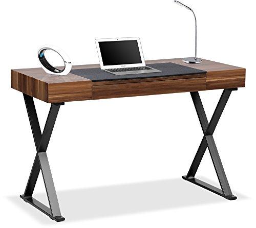 Centurion Supports ADONIS Gloss Walnut and Matte Black Legs Ergonomic Home Office Luxury Computer Desk