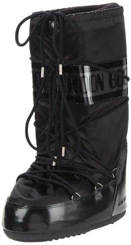 Tecnica MOON BOOT GLANCE 140168, Unisex-Erwachsene Schneestiefel, Schwarz (BLACK 3), EU 39-41