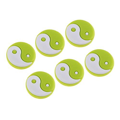 F Fityle 6 Piezas Raqueta de Tenis Antivibración Squash y Amortiguador A Prueba de Golpes para Tenis - Verde
