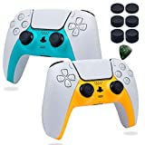 Decorative Shell Case Cover Skin Replacement Set for PS5 Wireless Controller Playstation 5 Console DIY Game Accessories with Thumb Stick Caps