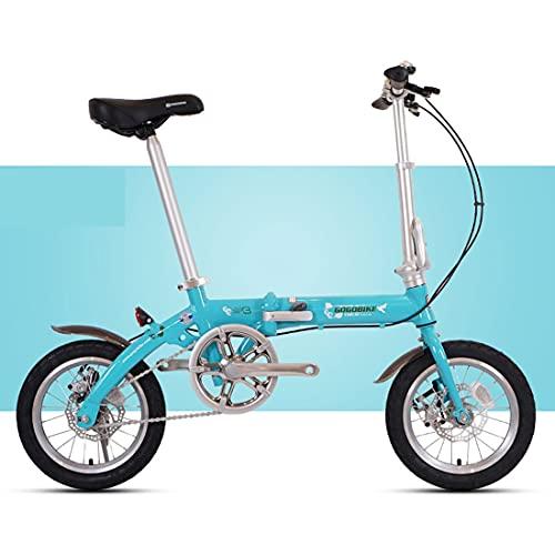 JINDAO Bicicleta plegable para adultos Bicicleta de trabajo para hombres y mujeres, ruedas pequeñas de carga de 90 kg, pequeñas bicicletas plegables se pueden poner en el maletero (color: verde)