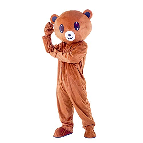 I BIMS-LICHT China bär-Kostüm, Ganzkörper Tier-Kostüme, Tier-Kostüme, Geschenk Erwachsene, 155-185cm, Verkleidung, Karneval, Halloween, Fasching, Geburtstags-Geschenk (A, 165-175cm)