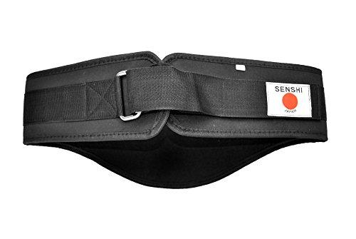 DE BESTE PREMIUM gewichtheffen riem - Senshi Elite Performance Gewicht Training Core Back Support Belt, beschikt over Supreme Locking klittenband met Heavy Duty RVS haak - Gecontroleerd ontwerp ter ondersteuning van de ruggengraat structuur - 1 jaar garantie + 100% tevredenheid garantie
