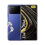 Poco M3 - Smartphone 4+128GB, Écran DotDrop FHD+ de 6,53', Processeur Snapdragon 662, Triple caméra 48MP avec IA, Batterie 6000 mAh, Bleu Glacier (Version Officielle + 2 Ans de Garantie)