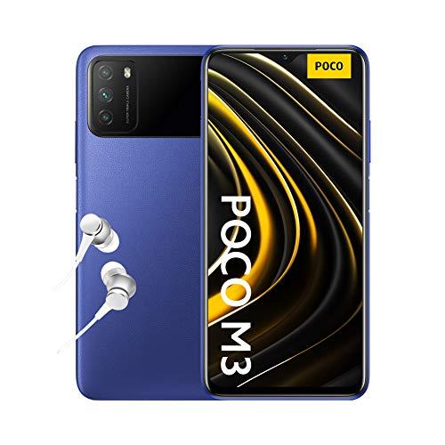 "Poco M3 - Smartphone 4+64GB, Pantalla 6,53"" FHD+ con Dot Drop, Snapdragon 662, Cámara triple de 48 MP con IA, batería de 6000 mAh, Cool Blue"