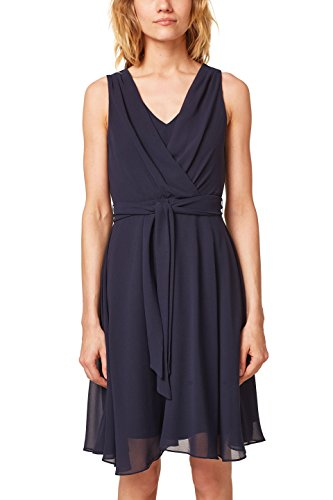 ESPRIT Collection Damen 058EO1E027 Kleid, Blau (Navy 400), 40