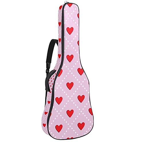 Rojo Bolsa de guitarra Mochila Guitarra Gig Bag Guitar Carry Case para concierto Home Storage Travel