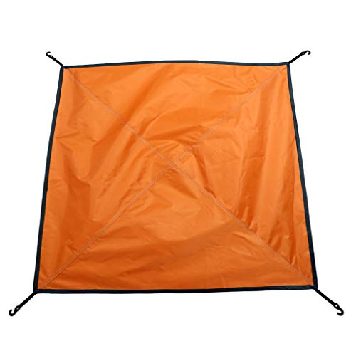 F Fityle Bâche Anti-Pluie Toile de Tente Imperméable Pliable Portable pour Camping - 81 x 81 cm - Orange