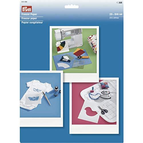 Prym - Papel para congelador DIN A4, 25 hojas, color blanco