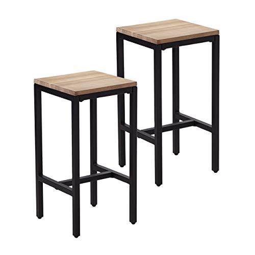 SEI Furniture Berinsly Expandable Freestanding Island & Stools Kitchen Island, Black, Natural