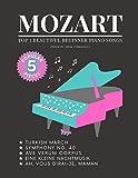 MOZART - Top 5 BEAUTIFUL Beginner Piano Songs: Eine Kleine Nachtmusik; Turkish March; Ah, vous dirai-je, Maman; Symphony No. 40; Ave Verum Corpus: ... How to Play. Book, Video Tutorial, BIG Notes.
