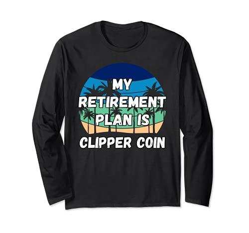 Clipper Coin Crypto、私の退職金制度はClipper Coinです。 長袖Tシャツ