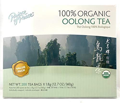 Prince of Peace 100 Organic Tea BEST VALUE Family Size 200 Tea Bags Organic Oolong Tea product image