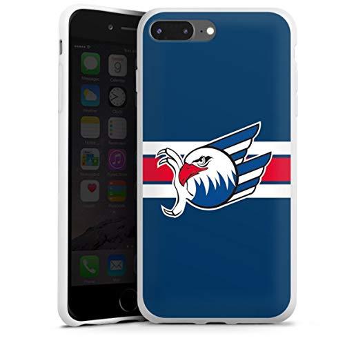 DeinDesign Silikon Hülle kompatibel mit Apple iPhone 8 Plus Case weiß Handyhülle Eishockey Logo Adler Mannheim