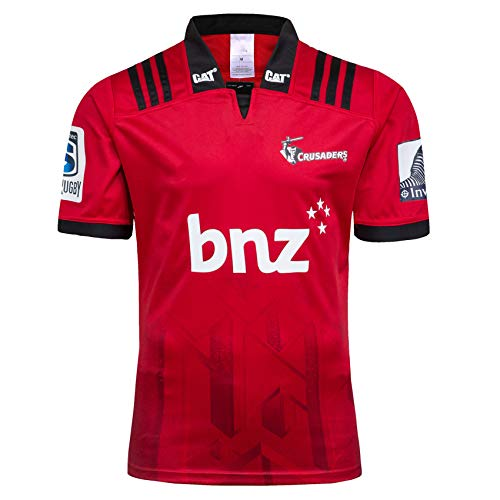 Rugby Jersey 2018-19 Nueva Zelanda Rugby Jersey Crusaders Home and Away Rugby Jersey S-3XL,Rojo,M