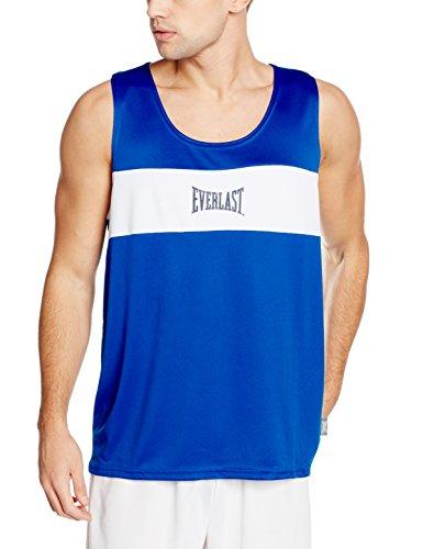 Everlast 4424 - Camiseta de boxeo unisex, Azul / Blanco, S
