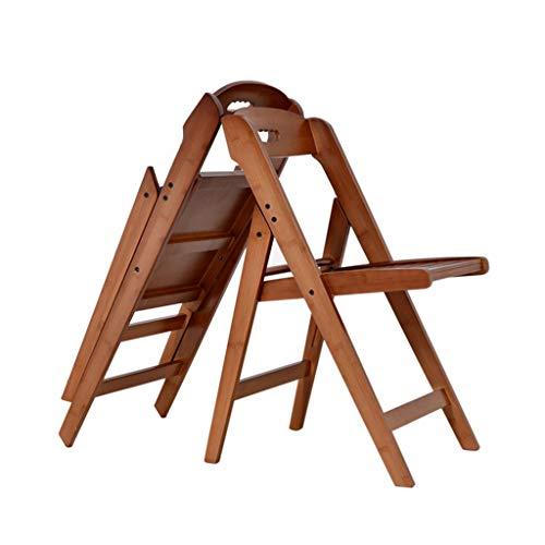 Giardino Sillas de Patio Plegables para Exteriores, sillas de Comedor para Patio, sillón de Comedor pequeño para bistró, Silla Auxiliar portátil y compacta, Muebles de Exterior de Madera
