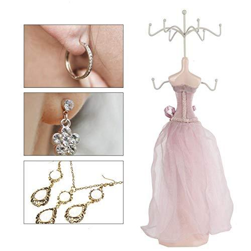 Estante de almacenamiento de pendientes de joyería, Soporte de exhibición de pulsera de collar de pendiente, Estante de almacenamiento de joyería [modelo grande], Adornos de joyería, Soporte de joyerí