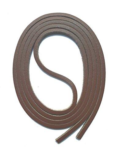 SNORS Schnürsenkel aus LEDER DUNKELBRAUN, 120cm, ca. 3x3mm, Docksider, Lederriemen, echtes Rindsleder, Ledersenkel Made in Germany