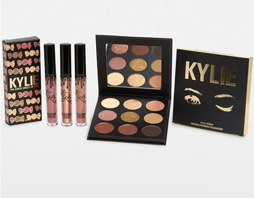 それぞれ画面センサーKylie Cosmetics The Sorta Sweet Bundle シャドウパレットとリップのセット