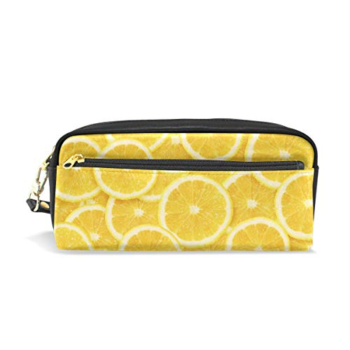Chic Houses Lemon Fruit Cosmetic Bag Stationery Pencil Pouch Fresh Natural Wash Pouch Travelling Portable for Student and Women 2030093