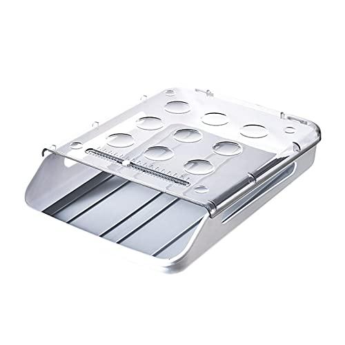 Caja de almacenamiento de plástico, contenedor de preparación de alimentos, huevos en el refrigerador, hogar, cocina fresca, arreglo de alimentos, tipo cajón, artículos de cocina (A1)