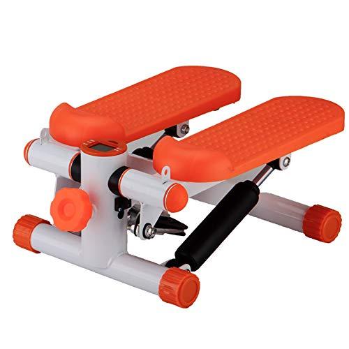 ZZPP Twist Sportgerät,für Startseite Büro Fitness Training Übung,Stepper Für Zuhause Aerobic Twister Stepper Übungsmaschine Mit LCD-Display Orange 38x30x18cm(15x12x7inch)