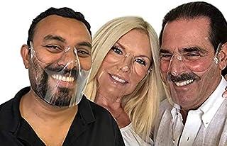 2PCS Transparent Durable Face Mask/Face Shield, Reusable, Clear & Visible, PET Cover Suitable for Restaurants, Hotels, Cak...