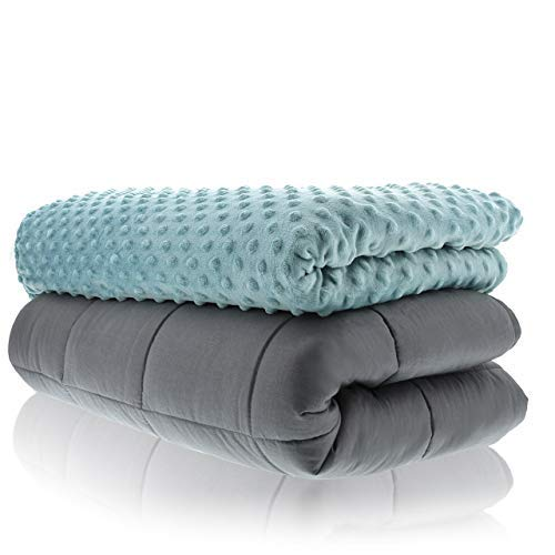 Sonno Zona Weighted Blanket Adult Size - Blanket with Cover Included - Tide 60x80 inches 20 Pound -...