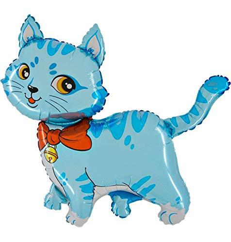 Ballonim® Katze blau ca. 80cm Luftballons Folienballon Party DekorationGeburtstag