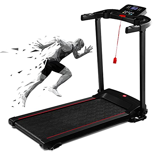 Electric Treadmill, Folding Treadmill with 3 Levels Incline, 16