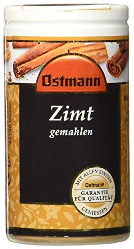 Ostmann Zimt gemahlen 30 g Zimtpulver Gewürz für orientalische Speisen, Zimt-Gewürz für Weihnachtsgebäck, Tee oder für Kaffee, Menge: 4 Stück