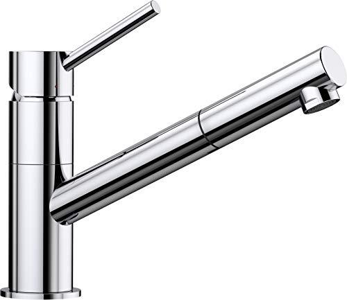 BLANCO KANO-S – Einhebelmischer für die Küche – mit ausziehbarem Auslauf – Chrom – 521503