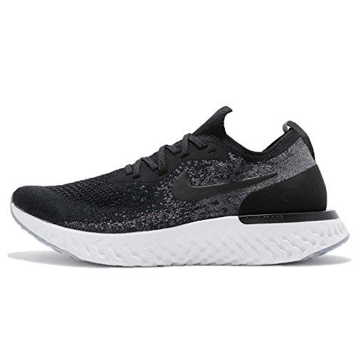 Nike Men's Epic React Flyknit Fitness Shoes, Multicolour (Black/Black/Dark Grey/Pure Platinum 001), 9 UK