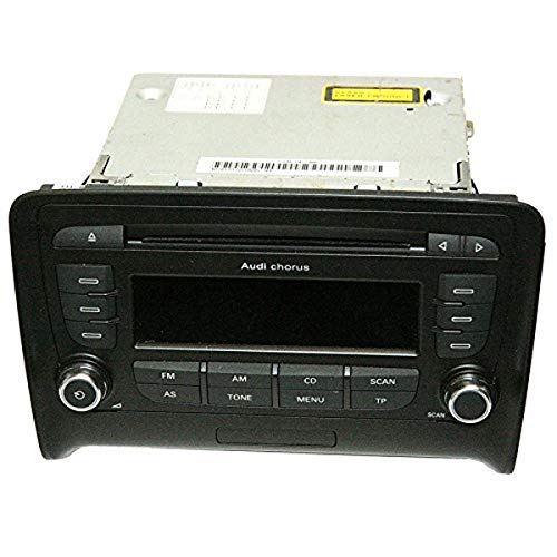 Audi 8J0057152F CD-Autoradio Chorus Generation II mit Flexmetallic-Blende und Soul-Drehknöpfen