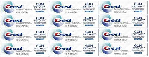 Crest Gum Detoxify Toothpaste, Deep Clean, Travel Size, 0.85 oz (24g) - Pack of 12