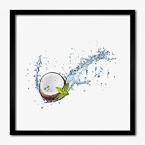 Tulup Image Cadre MDF Cadre en Bois 50x50 cm Peinture Moderne Photo AfficheTableau - Noce di cocco e acqua