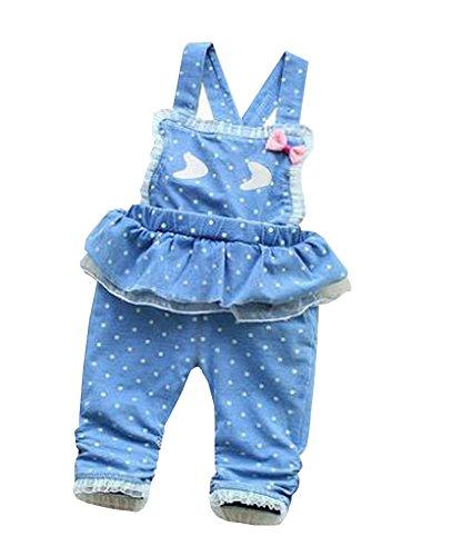 Belle enfant globale Lovely Denim Dentelle bébé fille Jeans globale Bleu