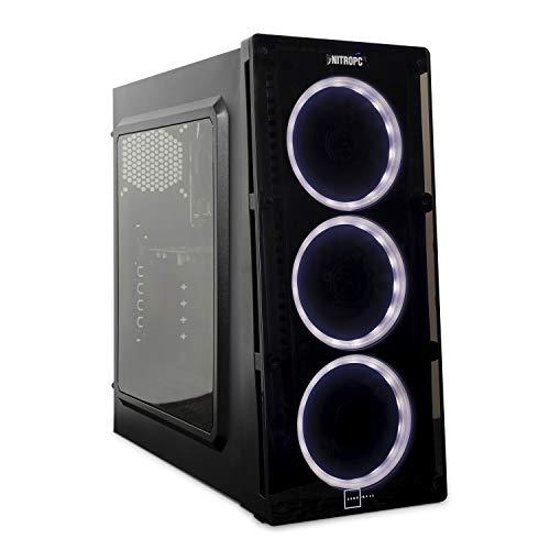 NITROPC - PC Gamer VX *Rebajas de junio 2020* (CPU Ryzen, 4 x 3,40Ghz, T. Grfica Nvidia GTX 1650 4GB, Hdd 1TB, Ram 16GB, Windows 10 preliminar) + WIFI de regalo. pc gamer, pc gaming, pc para juegos, ordenador juegos