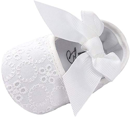 Matt Keely Baby Mädchen Bowknot Taufe Schuhe Prewalker Weiß 3-6 Monate