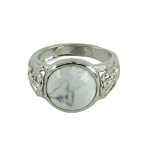 yotijar - Anillo tibetano de plata con turquesa – Joyas de plata vintage