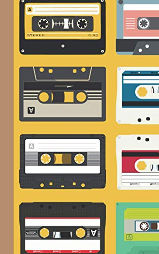 Never Forget: Mixed Cassette Tape 120 Page Journal Notebook for Old School Music Lovers