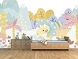 Oedim Fotomural Infantil Vinilo para Pared Dinosaurio Colores | Mural | Fotomural Vinilo Decorativo | 200 x 150 cm | Decoración comedores, Salones, Habitaciones