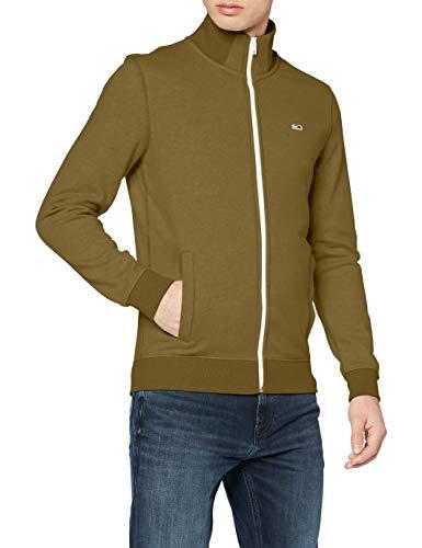 Tommy Jeans Essential Chaqueta de Chándal con Cremallera, Verde (Uniform Olive L8q), X-Large para Hombre