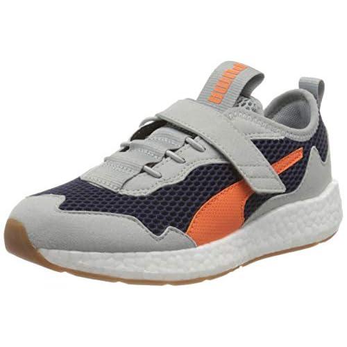 PUMA Nrgy Neko Skim AC PS, Sneakers Unisex-Bambini, Blu (Peacoat/Firecracker/High Rise White/Gum), 34 EU