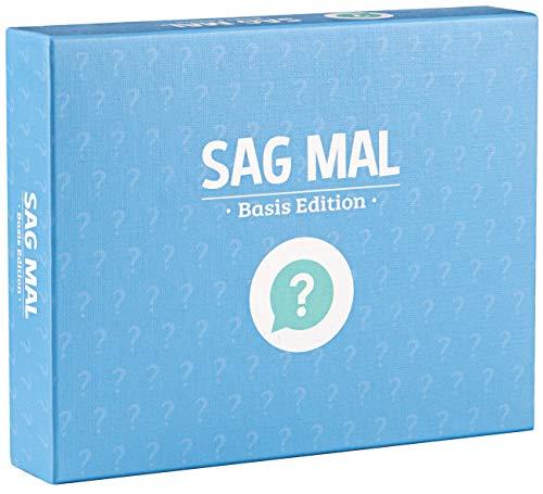 Sag mal.. Basis Edition - Ein Fragespiel für Erwachsene und die ganze Familie / Aufschlußreiche Fragen für alle, die mehr wollen als Smalltalk / Kartenspiel als Familienspiel für tollen Gesprächsstoff