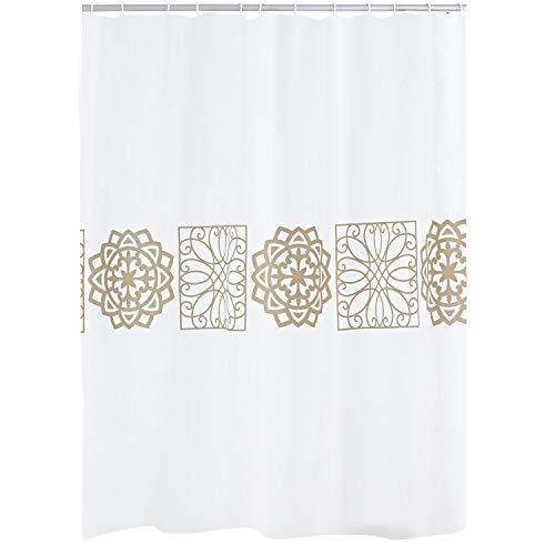 RIDDER 46359S-350 Duschvorhang Textil ca. 180x200 cm Tunis
